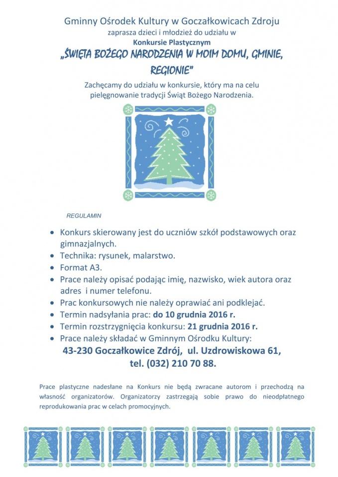 Konkurs Plastyczny święta Bożego Narodzenia Aktualności