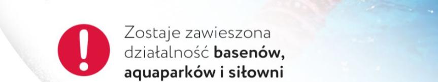 Od 17.10.2020 roku basen i siłownia zamknięte do odwołania Kliknięcie w obrazek spowoduje wyświetlenie jego powiększenia